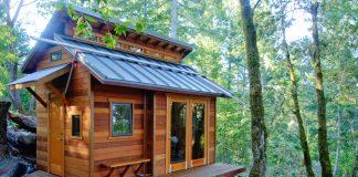 Une Tiny House dans les bois
