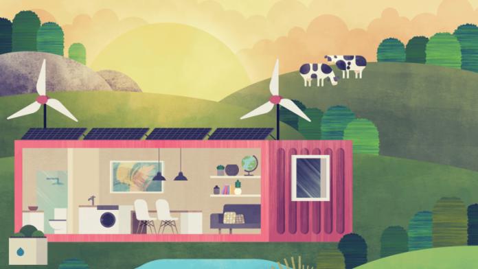 des containers pour un mode de logement 100 cologique consofutur. Black Bedroom Furniture Sets. Home Design Ideas
