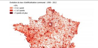 évolution artificialisation des sols