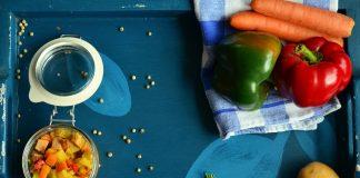 Plat de produits bios