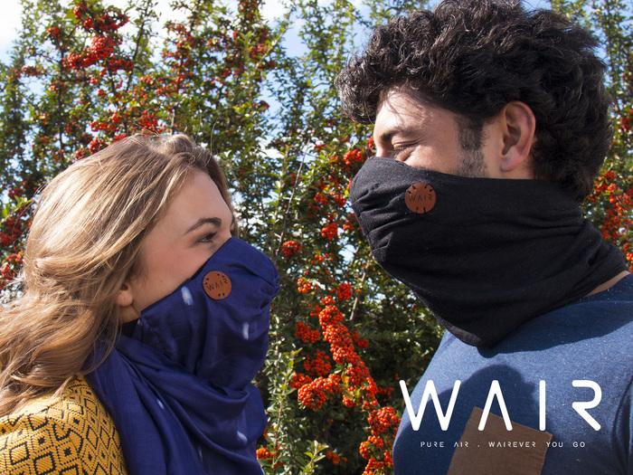 WAIR, le foulard antipollutio connecté