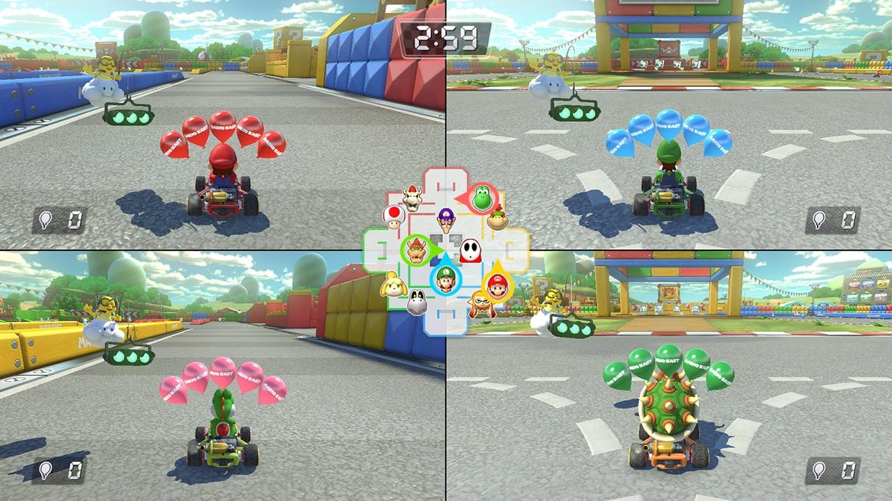 Mario Kart 8 Deluxe Switch multijoueur 4 joueurs