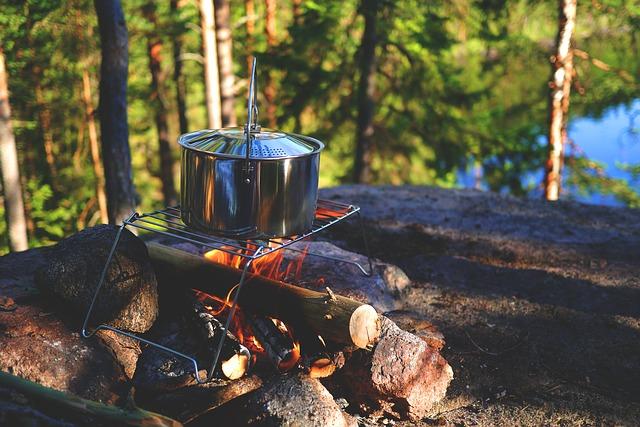 camping popote en inox