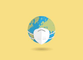 pollution planète masques jetables