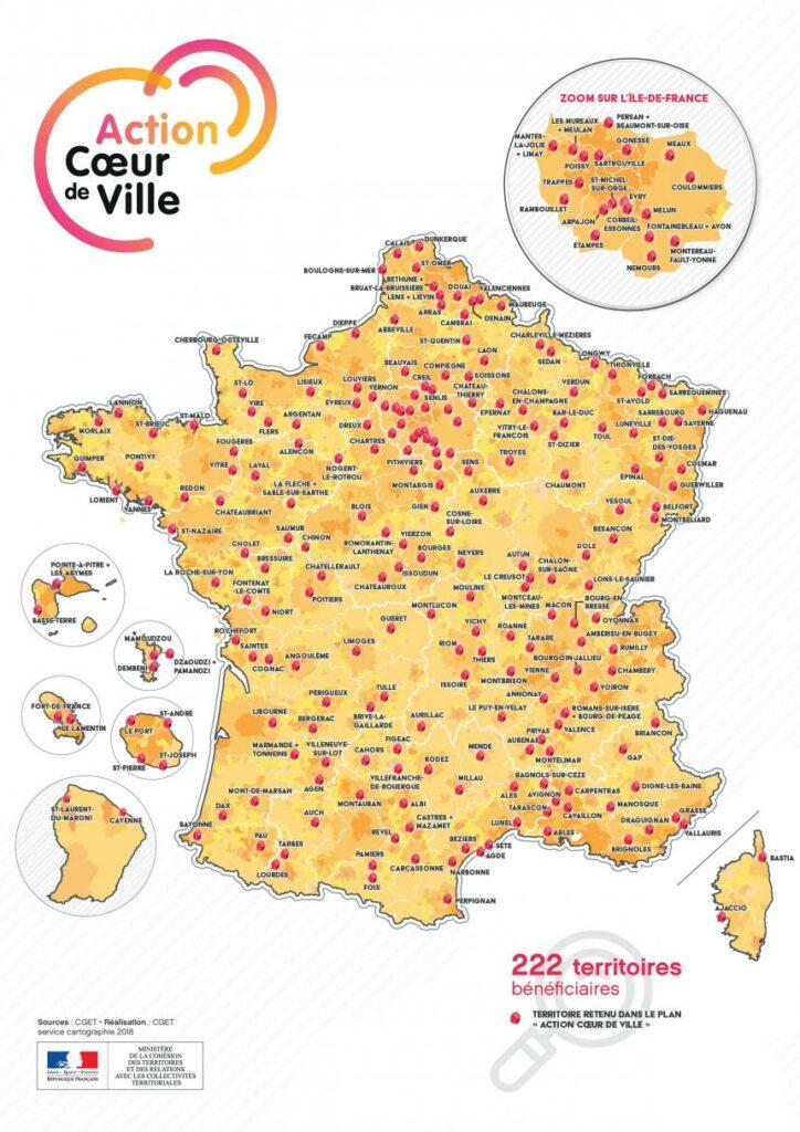 222 villes action coeur de ville